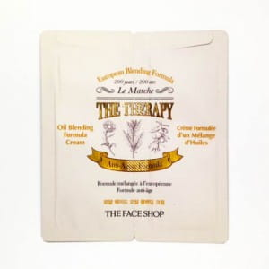 Двухфазный увлажняющий крем The Face Shop The therapy royal made oil blending cream 2.2ml*10ea