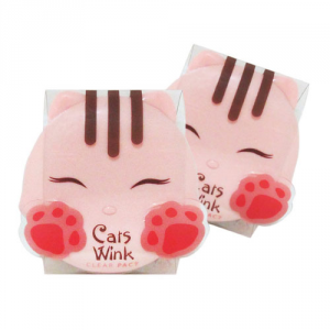 Стойкая пудра с отбеливающим эффектом Tony Moly Cat Wink clear pact