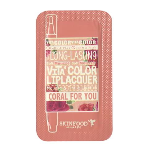Тинт для губ  Skinfood Vita color liplacquer CR01 1ml*10ea