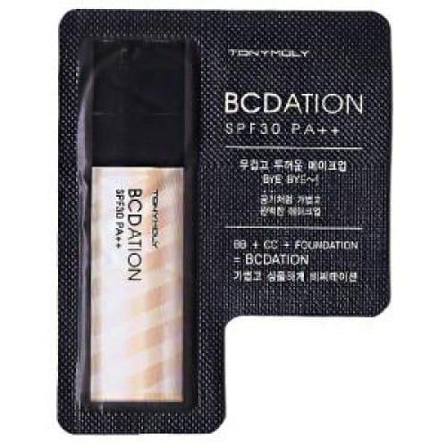 Тонирующий крем с солнцезащитным эффектом Tony Moly Bcdation SPF30 PA++ 1ml*10ea