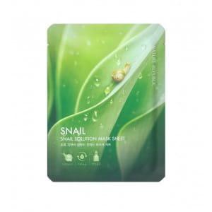 Улиточная листовая маска для лица Nature Snail Solution Mask Sheet 20g