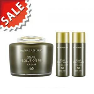 Специальный комплекс средств с фильтратом слизи улитки Nature Republic Snail Solution70 Cream Special Set 117ml