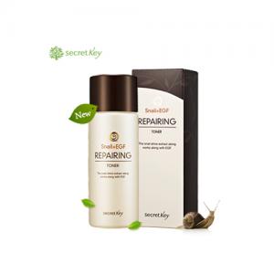 Тонер для увлажнения и восстановления кожи лица  Secret Key Snail+EGF Repairing Toner 150ml