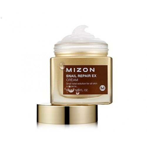 Восстанавливающий крем для лица с улиточным секретом  Mizon Snail Repair EX cream 50ml