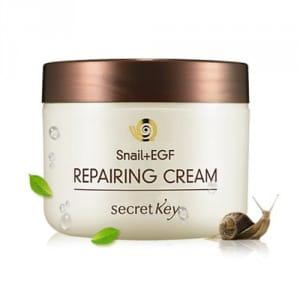 Обновляющий крем для лица с  фильтратом слизи улитки Secret Key Snail+EGF Repairing Cream 50g.