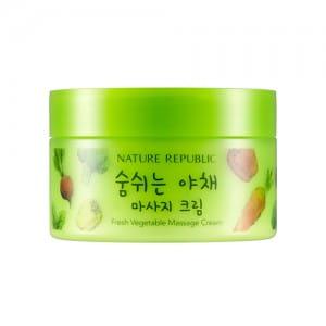 Массажный крем для лица с овощными экстрактами Nature Republic Fresh Vegetable Massage Cream 200ml