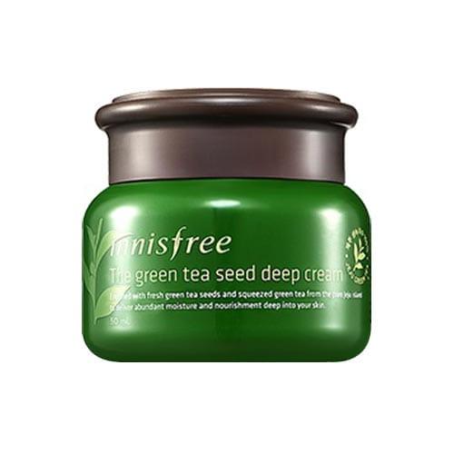 Увлажняющий крем для лица с зелёным чаем Innisfree The Green Tea Seed Deep Cream 50ml