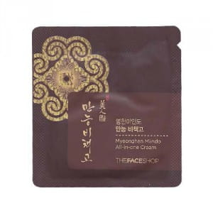 Многофункциональный крем для лица The face shop Myeonghan miindo All in one cream 1ml*10ea