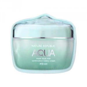 Крем с увлажняющим эффектом для комбинированной кожи Nature Republic  Super Aqua Max Combination Watery Cream 1ml *10ea