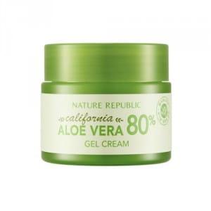 Заживляющий крем-гель для лица с экстрактом калифорнийского алоэ вера Nature Republic California Aloe Vera 80% Gel Cream 50ml