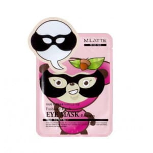 [MERRYSHOP] MILATTE Fashiony Black Eye Mask No.Raccoon - 1pack (10pcs)