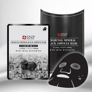 SNP Charcoal Mineral Black Ampoule Mask 25ml*10ea
