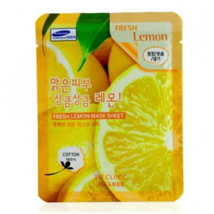 3W CLINIC Fresh mask sheet [Lemon] X10sheet