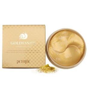 Обновляющие гидрогелевые патчи для кожи век [Merryshop] Petitfee Gold & snail hydrogel eye patch
