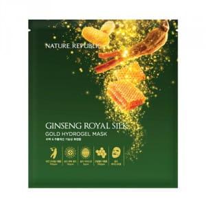 NATURE REPUBLIC Ginseng Royal Silk Gold Hydrogel Mask 32g*5ea