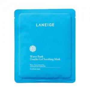 Маска для смягчения лица Laneige Water Bank Double Gel Soothing Mask 5 sheets