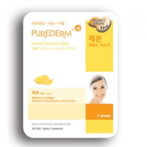 Листовая маска для лица с лимоном Purederm Essence Mask – Lemon