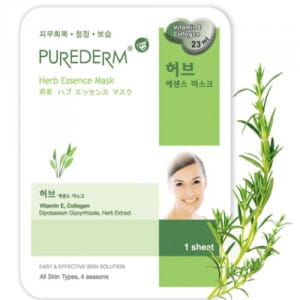 Тканевая маска с травами Purederm Essence Mask – Herb