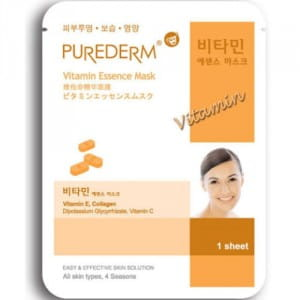 Витаминизированная маска для лица Purederm Essence Mask – Vitamin