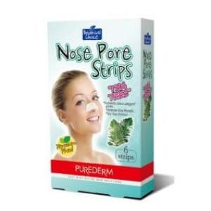 Очищающие полоски для носа с чайным деревом Purederm Nose pore strips Tea tree