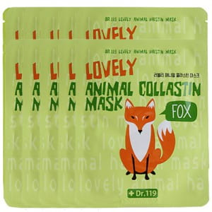 Dr.119 Lovely Anymal Collastin Mask SET