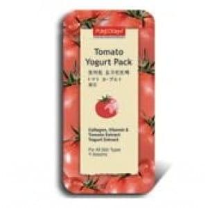 Очищающая и питательная маска для лица с томатом и йогуртом Purederm Tomato yogurt pack