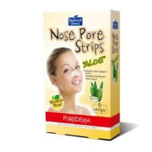 Полоски для очищения кожи носа Purederm Nose Pore strips Aloe