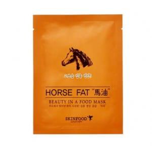 Увлажняющая  маска для  лица с конским жиром Skinfood Beauty in a food mask sheet, HORSE FAT
