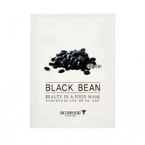 Листовая маска с черными бобами Skinfood Beauty in a food mask sheet, BLACK BEAN