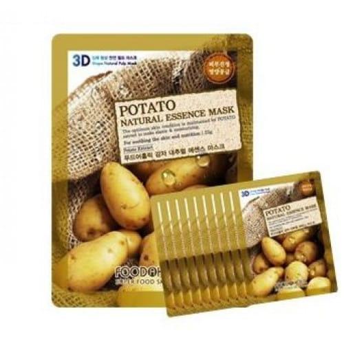 Успокаивающая листовая маска с экстрактом картофеля Food A Holic 3D Natural Essence Mask [Potato] x10EA.