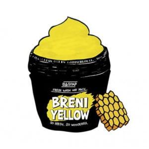 [MERRYSHOP] B&SOAP Breni Yellow fresh wash off pack 130g