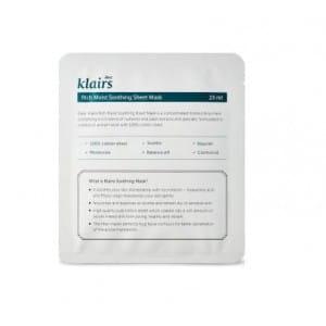 Листовая маска с увлажняющим и смягчающим эффектом [MERRYSHOP] Klairs Rich moist soothing mask [1 sheet]