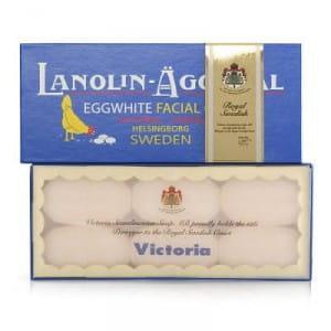 Шведская яичная маска Victoria Sweden Egg Pack Lanolin&Rose water BOX (50g*6)