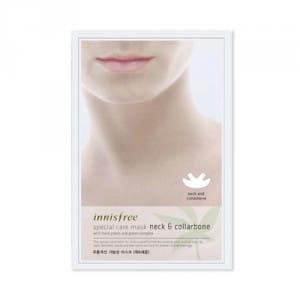 Интенсивно питающая  маска для подтяжки подбородка и шеи Innisfree Special Care Mask - Neck & Collarbone 40ml
