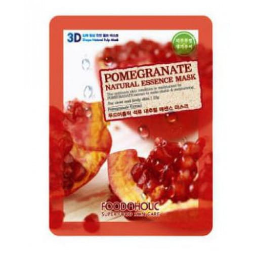 3D-маска с  экстрактом граната  Food A Holic 3D Natural Essence Mask [Pomegranate]