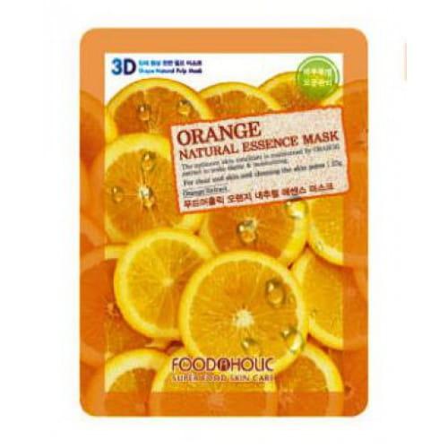 Листовая 3D маска с апельсином Food a Holic 3D Natural Essence Mask [Orange]