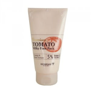 Томатная маска для лица с осветляющим эффектом Skinfood Premium Tomato Whitening Milky Face Pack 150g