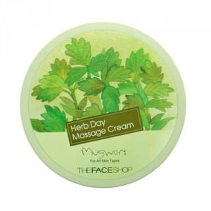 Массажный крем The Face Shop Herb Day Massage Cream - Mugwort 150ml