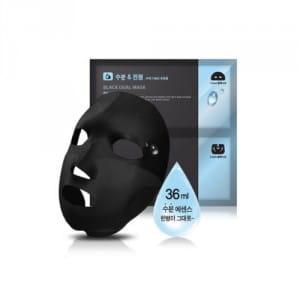 Увлажняющая и осветляющая маска Scinic Black Dual Mask Aqua White 18ml+18ml