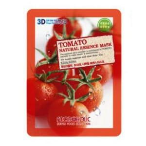 Листовая маска для лица с томатом Food A Holic 3D Natural Essence Mask [Tomato]
