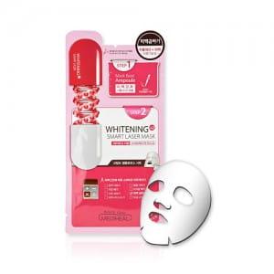 Умная осветляющая маска и сыворотка  Mediheal Smart Mask Whitening Double X2 Smart Filler Mask