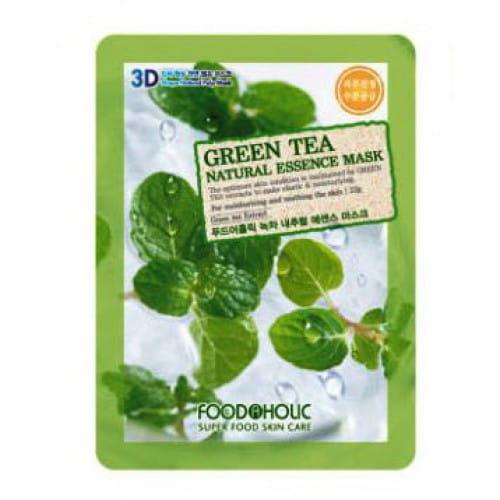 3D-маска с  экстрактом зелёного чая Food a Holic 3D Natural Essence Mask [Green Tea]