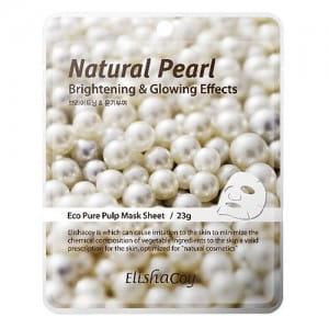 Листовая маска с натуральным жемчугом ElishaCoy Natural Pearl Mask Sheet