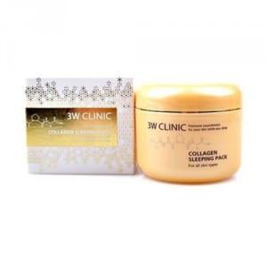 Маска для кожи с коллагеном 3W CLINIC Collagen Sleeping Pack 100ml (online)
