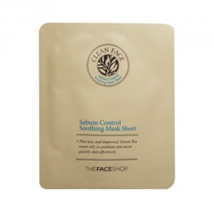 Листовая маска для жирной кожи The Face Shop Clean Face Sebum Control Soothing Mask Sheet