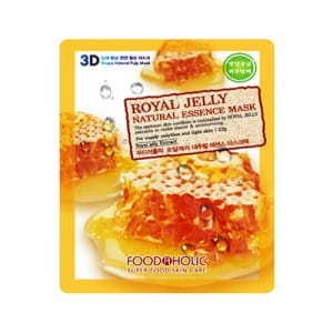 3D листовая  маска Food A Holic 3D Natural Essence Mask [Royal Jelly]