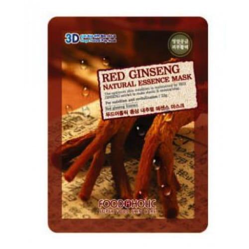 3D  листовая маска с экстрактом красного женьшеня Food A Holic 3D Natural Essence Mask [Red Ginseng]