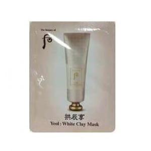 Маска для лица с глиной Whoo Yeol : White Clay mask 2 ml*10ea