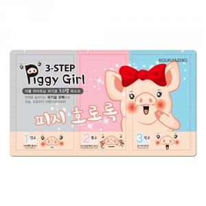 DOUBLE & ZERO Piggy Girl 3-step Nose Pack 10ea