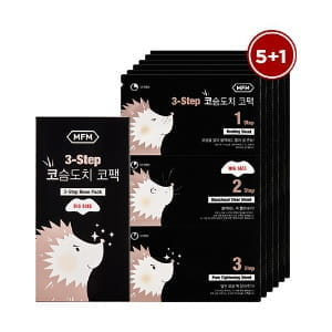 MISSHA For Men 3-STEP Hedgehog Nose Pack Set (3g+0.2g+3g)*6ea